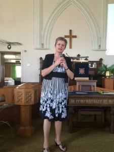 Guest speaker Rev. Marianne Emig Munro